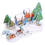 Happy Event regalo de Navidad | DIY Miniatura Papel Puzzle | Niños Früh Aprendizaje aprender