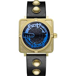 Dr Who Men's Quartz Analogue Display Watch with Blue Dial and Black Leather Strap DR193
