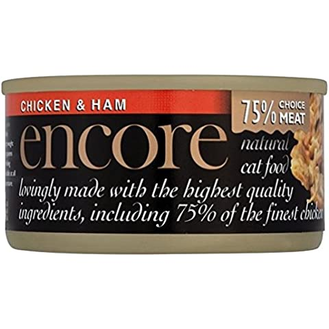 Encore gato lata de pollo y jamón 70g