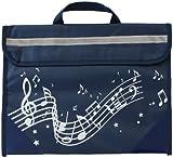 Wavy Stave Music Bag - Navy Blue