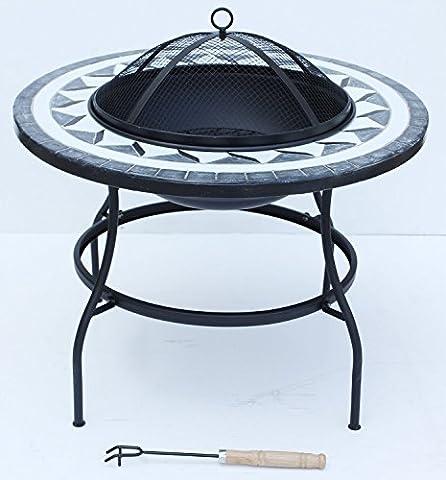 Noir Grand barbecue Foyer d'extérieur Chauffage si-bbq3mosaïque jardin terrasse café