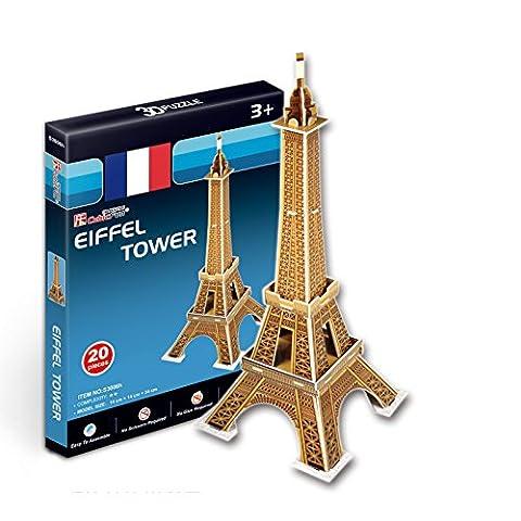 Puzzle 20 pièces - Puzzle 3D Série Mini - France, Paris : Tour Eiffel (Difficulté 2/8)