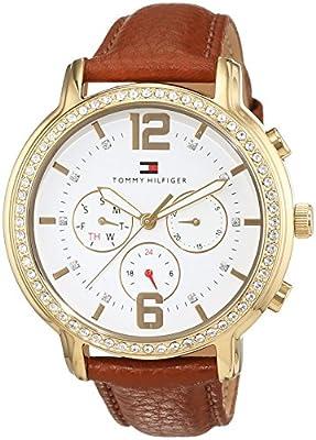 Tommy Hilfiger casual Sport mujer-reloj analógico de cuarzo de cuero 1781660