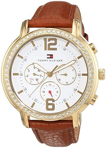 Tommy Hilfiger Damen-Armbanduhr Casual Sport Analog Quarz Leder 1781660