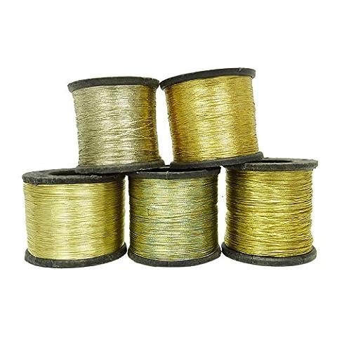 5 Sujet Pcs broderie métallisée courtepointe couture machine à tricoter