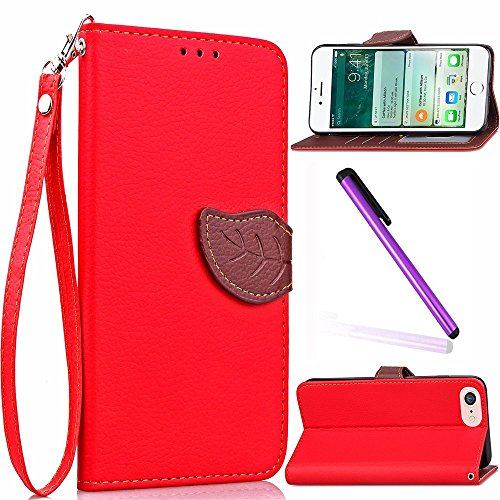 Coque Etui pouor iPhone 6 6S 4.7 Pouce,iPhone 6 Portefeuille Cuir Coque Etui Flip Housse,iPhone 6 6S Flip Wallet Leather Etui Coque Case Protective Cover,EMAXELERS iPhone 6 6S Coque Anithco,iPhone 6 6 Leaf 1