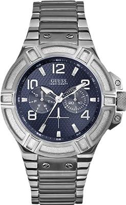 Guess W0218G2 - Reloj para hombres, correa de acero inoxidable color plateado