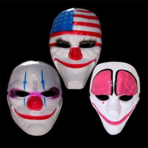 Befied Maske Clown Halloween Mask Kostüm Karneval Party Narren One Size Rot Weiß (Kinder Narr Kostüme)