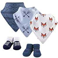 Yoga Sprout Baby Bandana Bib & Accessory Set, Clever Fox, 0-9 Months