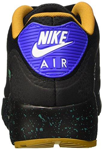 Nike Herren Air Max 90 Ultra Essential Sneakers Schwarz / Blau / Grün (Schwarz / Schwarz-Blau-Emrld Rcr Grn)