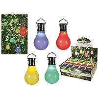 energía Solar para Colgar bombilla LED de plástico de colores surtidos, verde