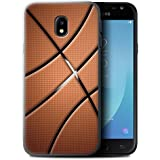 Coque Gel TPU de STUFF4 / Coque pour Samsung Galaxy J3 2017/J330 / Basket-ball Design / Balle Sportif Collection