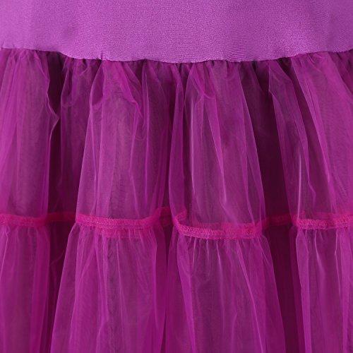 Izanoy 50er Jahre Petticoat Vintage Retro Reifrock Petticoat Unterrock für Wedding bridal Petticoat Rockabilly Kleid Schwarz