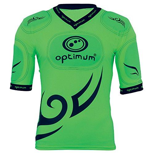 Optimum - Maglietta da uomo con paraspalle protettivi incorporati, motivo tribale, Uomo, Tribal, Fluro Green/Black, S