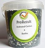 PROREZULT 1Liter Dose Aktivkohle und Zeolith Filter Media Mix für Aquarium und Teich Filter Reinigen. klares Wasser und-Ammoniakentferner