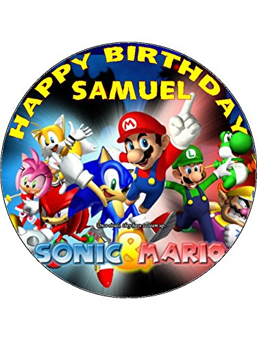 7,5 Sonic The Hedgehog Super Mario Essbarer Zuckerguss Birthday Kuchen Topper