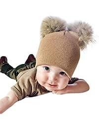 1- 4 ans Fille Garcon Bebe Hiver Bonnet Pompom Tricoté Chaud Laine Chapeau e5723f6b09b