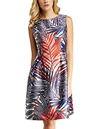 Womens Maritime Time: Navy-Red-Salmon-JeansBlack & Stripes Dress Apart Fashion