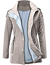 3e989162caf065 Raincoats Waterproof Lightweight Rain Jacket Active Outdoor Hooded Women s  Trench Coats