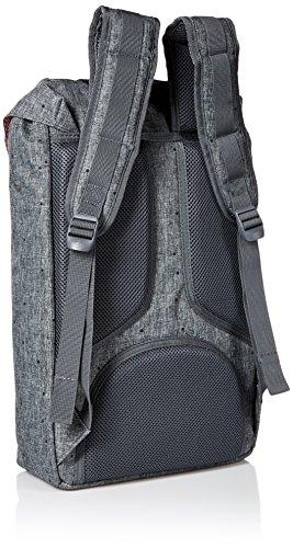 Herschel Supply Co. Rucksack Little America mid-volume, Stellar/Tan Synthetic Leather (blau) - 10020-01334-OS Raven Crosshatch/Black Rubber