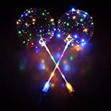MAJGLGE 45,7 cm Luminoso LED Trasparente Rotondo Bubble Balloon Party Wedding Decorazione