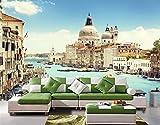 BGRWE Beibehang Paisaje arquitectónico Venecia Papel Tapiz Moderno de Lujo para Paredes Mural de Pared 3 D Papel de Parede Foto Rollo de Papel de Pared, 400x280 cm (157.5 por 110.2 in)