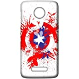 Mott2 Back Case For Motorola Moto Z2 Play | Motorola Moto Z2 PlayBack Cover | Motorola Moto Z2 Play Back Case - Printed Designer Hard Plastic Case - Captain America Theme - B075HG2NGC