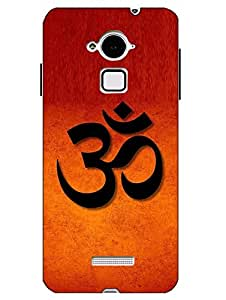 Case Cover Religion Printed Orange Hard Back Cover For CoolPad Note 3
