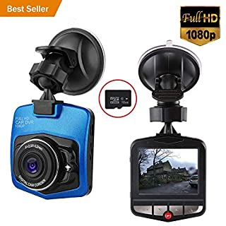 Car Cameras Dash Cam-Car Driving DVR Camera-Vehicle Dashboard Video Recorder Full HD 1080P Built in G-Sensor Loop Recording Motion Detection With 16GB Micro SD Card