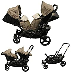 Abb Diffusion H813 Zwillings-Kinderwagen, Expresso