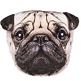 Bada Bing Kissen Hundekopf Mops ca. 30 cm süß kuschelig für Liebhaber Hundebesitzer 2063