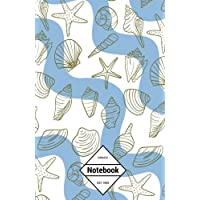 "GM&Co: Notebook Journal Dot-Grid, Lined, Graph, 120 pages 5.5""x8.5"": Sea life beach shells"