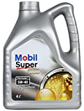 #5: Mobil Super 3000 F1 5W-40 Synthetic Motor Oil (4 L)