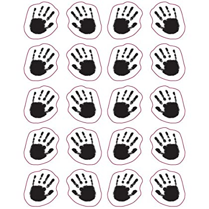 Handprints Shape Stickers