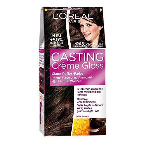 3 x L'Oreal Casting Crème Gloss / lucido di colore riflettente / Marrone Muffin 4012