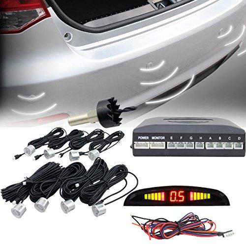 Hengda® Rückfahrhilfe Einparkhilfe 8 Sensoren Auto Rückfahrwarner Rückfahrsystem Parksensoren Universal Auto Parken Sensor System mit LED Farb Display