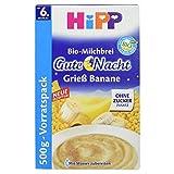 Hipp Gute Nacht Bio-Milchbrei Grieß Banane, 500 g