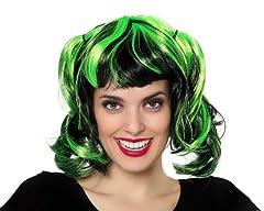 Idea Regalo - Atosa 8422259166474 - Parrucca con mèches, colore: Verde