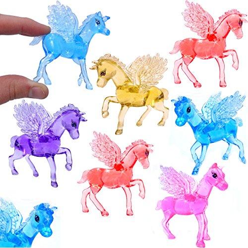German Trendseller® - 12 x Magisch Zauberhafte - Kristall Pferde - für Kinder ┃ Mädchen Farben ┃ Mitgebsel ┃ Kindergeburtstag ┃ Zauber - Pferde ┃ 12 Stück