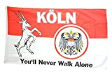 Flaggenfritze® Flagge Fanflagge Köln You'll never walk alone - 90 x 150 cm