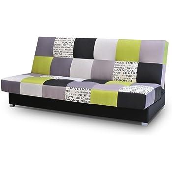 Mb Moebel Patchwork Schlafsofa Kippsofa Sofa Mit Schlaffunktion Klappsofa Bettfunktion Mit Bettkasten Couchgarnitur Couch Sofagarnitur Ausziehbar