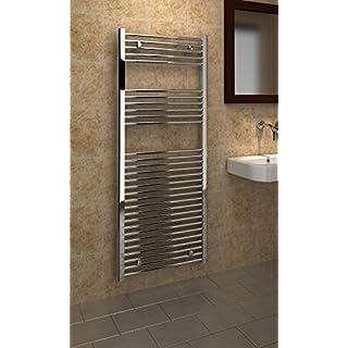 Kudox 5060069427045 Premium Flat Towel Rail - Chrome