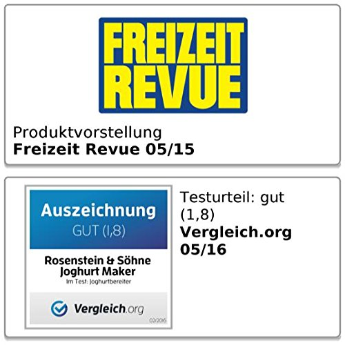 Rosenstein & Söhne Joghurt Maker mit Portionsgläsern (7 x 150 ml) - 6