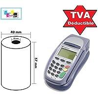 20Bobina rollos 57mm x 40mm 57x 40de papel térmico para caja tarjeta bancaria, TPE, Terminal POS Ticket rollos