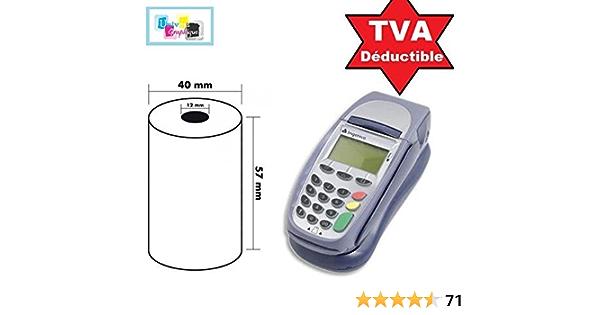 rouleau thermique terminal carte bancaire 50 Sans Bisph/énol A 57 x 40 x 12 mm Bobines Carte Bancaire Thermique TPE