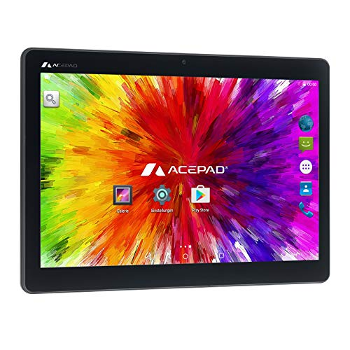 "ACEPAD A140 (10.1"") 3G Tablet PC, 2GB RAM, 64GB Speicher, 1920x1200, Dual-SIM, Octa Core, Android 7, WiFi/WLAN/Bluetooth, USB/SD (Schwarz)"