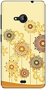 The Racoon Lean printed designer hard back mobile phone case cover for Microsoft Lumia 535. (Sunny Cand)
