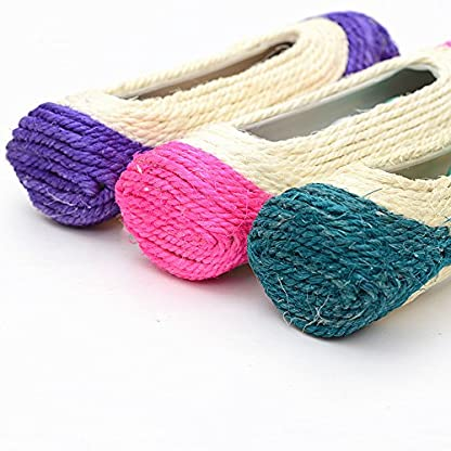 OWIKAR Cat Scratcher Sisal Rope Woven Scratching Barrel Toys with Ball Trapped Ball Training Cat Catch Sisal Post Hollow Column, Pink Purple Green Random Color,1 pack 5