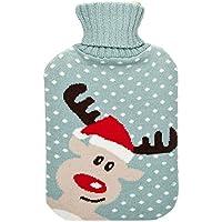 Preisvergleich für Amazing Health Cute Seasonal Winter NEUHEIT Hot Wasser Flaschen Christmas Reindeer
