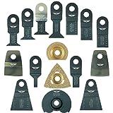 16 x TopsTools WXK16 Mix Klingen für Worx Sonicrafter, Worx 250W, Erbauer Multitool Multi Tool Multifunktionswerkzeug Oszillierwerkzeug Zubehör